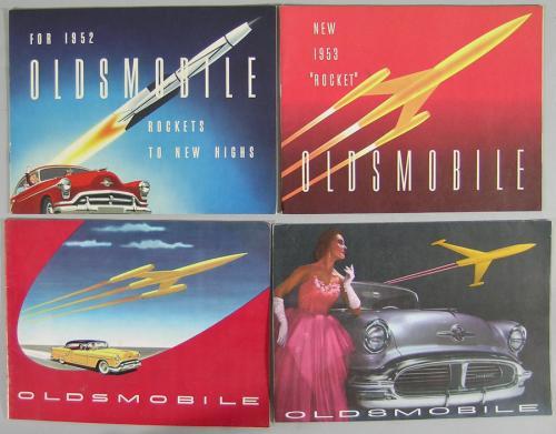 Twelve Vintage Oldsmobile Automobile Brochures