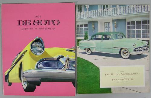 Seven Vintage DeSoto Automobile Brochures
