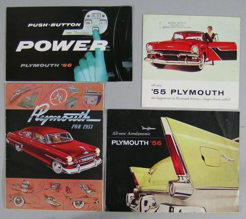 Twelve Vintage Plymouth Automobile Brochures