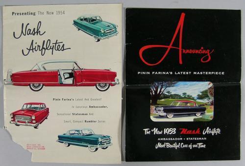 Thirteen Vintage Nash Automobile Brochures
