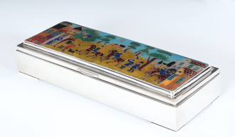 Caskets in 830s with enamel. (L: 21cm)