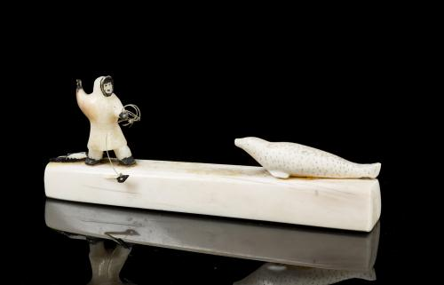 Inuit Miniature Walrus Ivory Carving