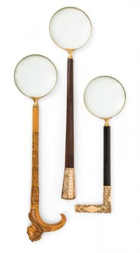 Three English Magnifying Glasses