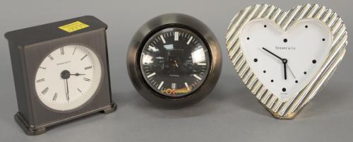 Three Tiffany clocks, Tiffany & Co