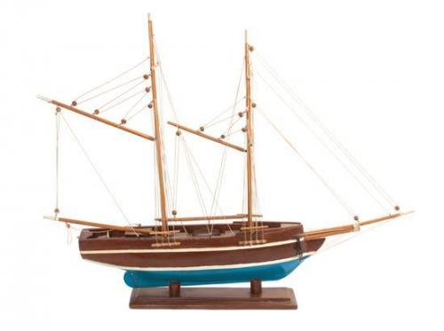 Two Model Sailing Ships Height of first 24 inches.