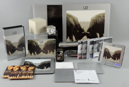 U2 The Best Of 1990 - 2000 double Vinyl, double CD, bonus DVD, Ray-Ban sunglasses in special U2 case
