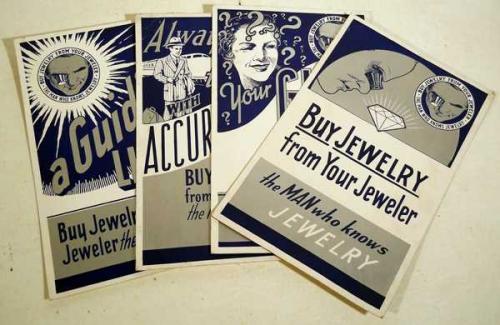 Advertising Catalogs ANTIQUE CONSUMER PRODUCTS EPHEMERA Correspondence jewelry Clocks Watches Optical Brecken Book