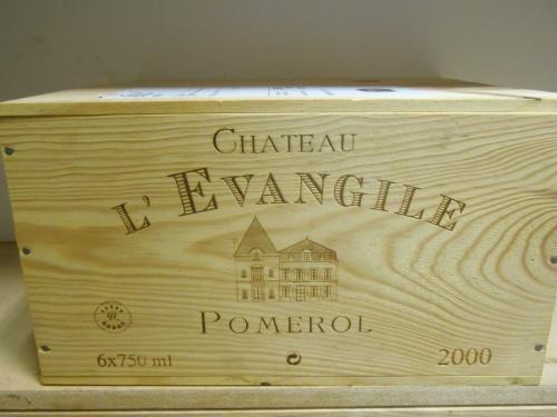Chateau L'Evangile, Pomerol 2000, six bottle owc (ex. The Wine Society) <br>