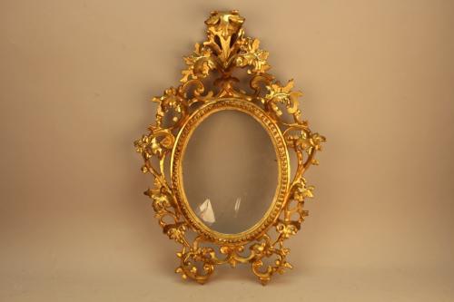 Antique Gilt Carved Oval Frame