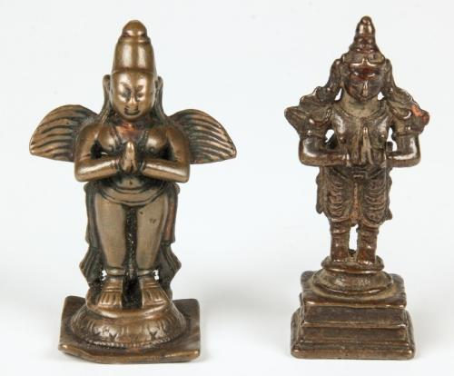 2 Bronze Garuda Statues, 19th C.