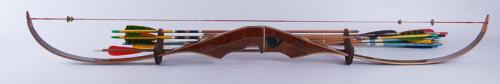 NULLHawkeyeNULL Laminated Re-curved Bow with Arrows