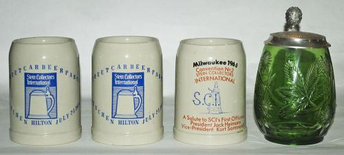 Lot of 4 SCI Convention Steins - 1968, 1978, 1980