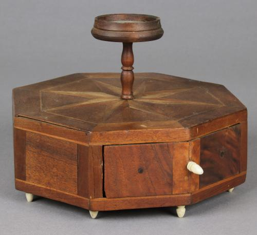 Antique Parquetry Sewing Box