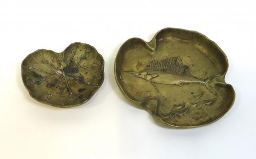 Two Brass Ashtrays