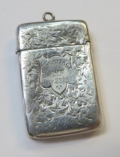 Antique Silver Matchsafe