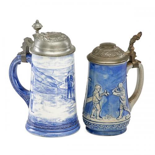 GOLF-RELATED BEER STEINS