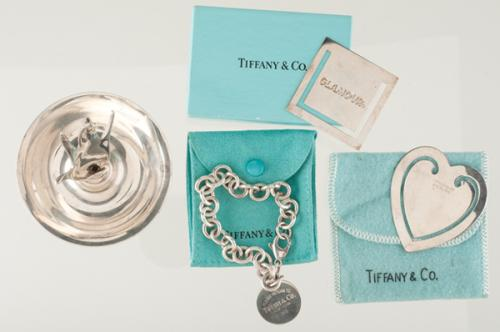 Tiffany & Co. Bracelet, Bookmarks and Ring Tree