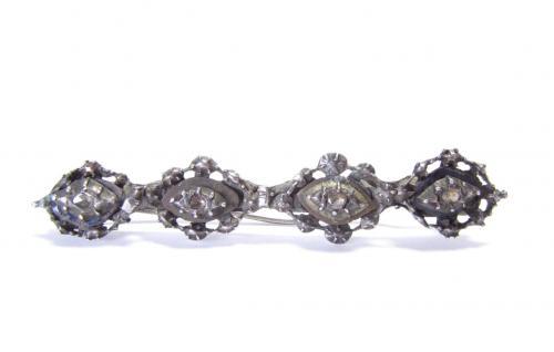 Antique Silver Diamond Brooch