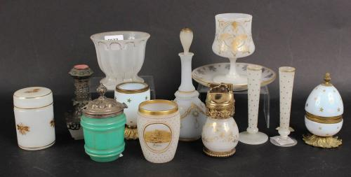 Group of Milk Glass Articles, 20thC.