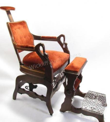 Theo. A. Kochs Antique Barber Chair