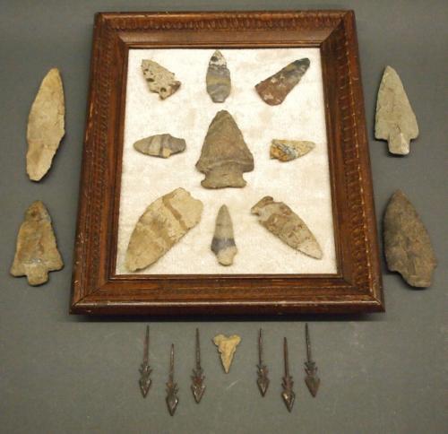 20 arrowheads & spear tips