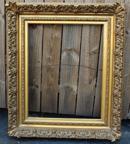 Antique gold leaf frame