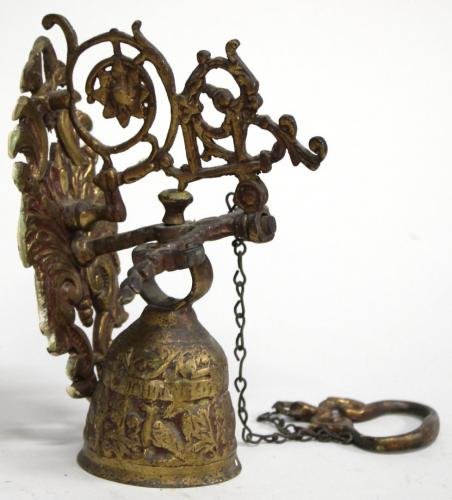 Antique Brass Wall-Mounting Sanctuary Bell