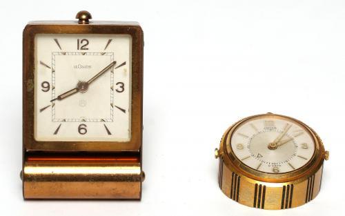 2 Vintage Swiss Travel Alarm Clocks incl LeCoultre