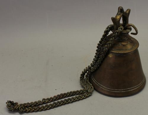 Other Asian Antiques Asian Antiques Antique Bronze Buffalo Bell W Single Clapper From Thailand.