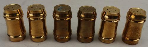 (6) Copper Salt/Pepper Shakers