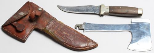 NULLCase XXNULL Hunting Knife, Hatchet & Sheath Combo