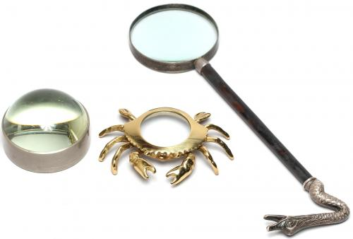 3 Desktop Magnifying Glasses, inc. Silver