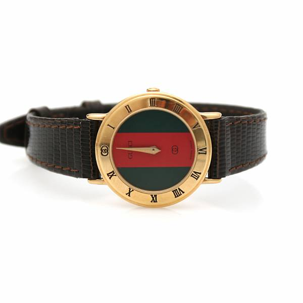 Gucci: A lady's wristwatch of gilded steel. Model 3000L. End 1980s.
