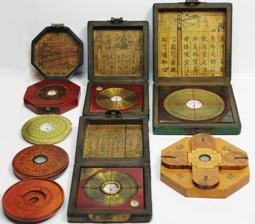 Group Lot of Chinese Compasses