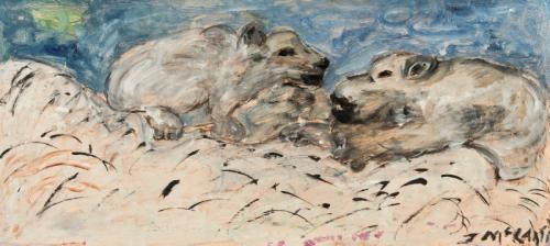Justin McCarthy (1891-1977) Two Polar Bears