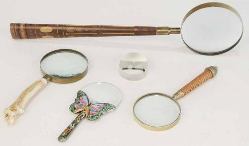 Group of Four Magnifying Glasses