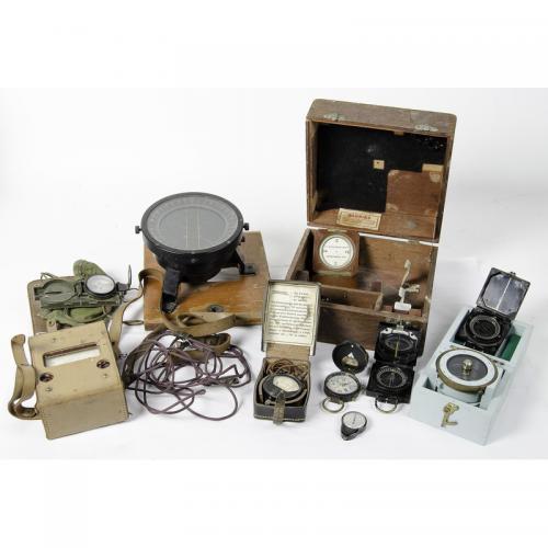 Lot of Ten Military Compasses