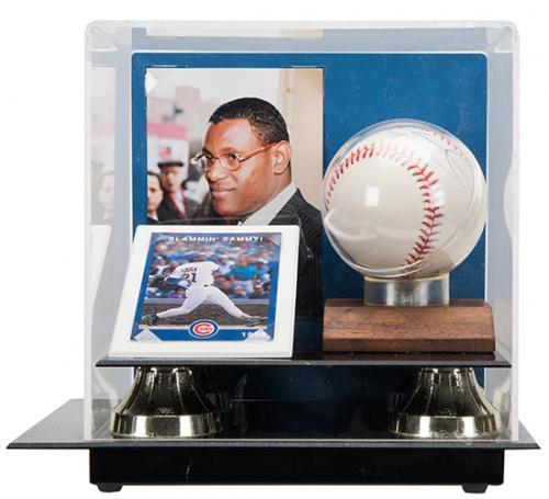 Sammy Sosa Signed Baseball, Sports Card, and Photograph.