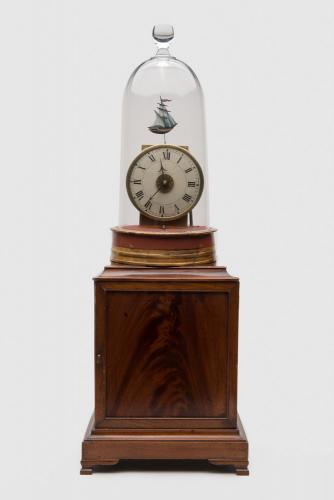 Lighthouse Alarm Clock attributed to SIMON WILLARD, ca. 1818