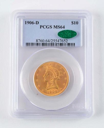 Auction results for gold coin