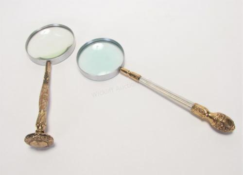 Two Antique Magnifying Glasses