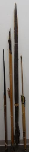 South American Feather Decorated Arrows, Bow