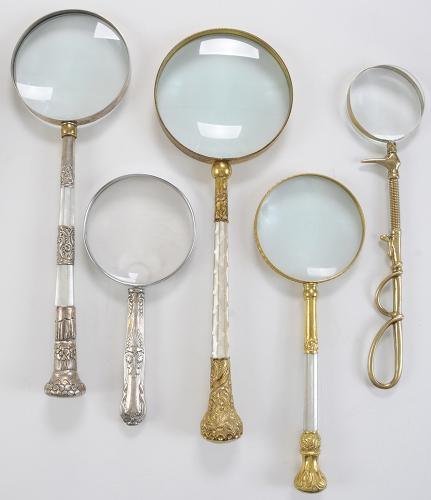 Five Fancy Magnifying Glasses