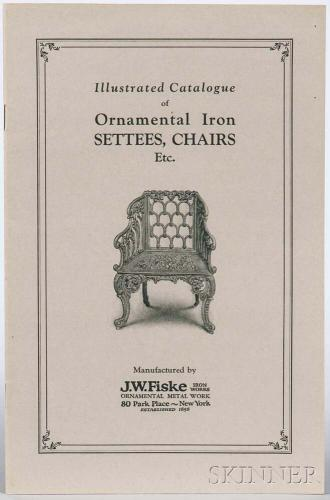 Illustrated J.W. Fiske Iron Works Catalog of Ornamental Iron Settees, Chairs, Etc.