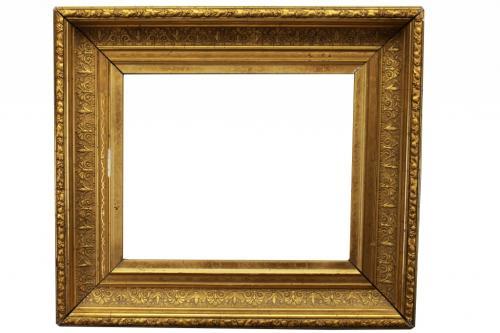 Antique Carved Gilt Continental Frame