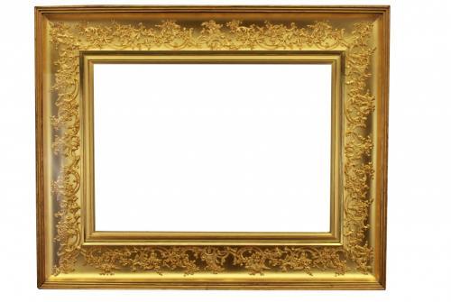 Antique Continental Gold Leaf Frame