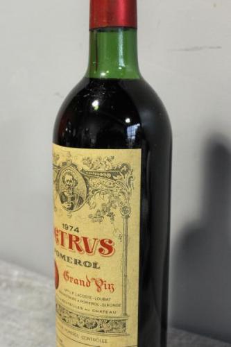 Petrus Pomerol Grand Vin Wine 1974.