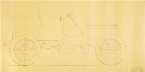 (ENGINEERING) BUICK MOTOR COMPANY. A group of blueprints for early Buick automobiles.