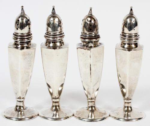 AMERICAN STERLING SALT AND PEPPER SHAKERS FOUR