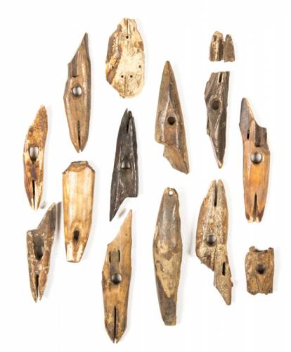 A Fine Group of 14 Prehistoric Inuit Harpoon Fragments